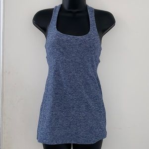 Beyond Yoga Blue Tank With Built in Bra Size Small